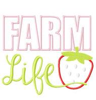 Farm Life Satin and Zigzag Stitch Applique