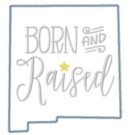 New Mexico Born and Raised Vintage and Blanket Stitch Applique
