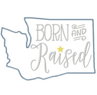 Washington Born and Raised Vintage and Blanket Stitch Applique