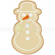 Gingerbread Snowman Applique