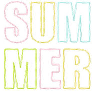 Summer Vintage and Chain Stitch Applique