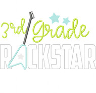 3rd Grade Rockstar Satin and Zigzag Stitch Applique