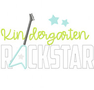 Kindergarten Rockstar Satin and Zigzag Stitch Applique