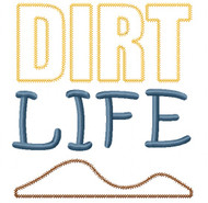 Dirt Life Vintage and Chain Stitch Applique
