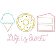 Life is Sweet Satin and Zigzag Stitch Applique