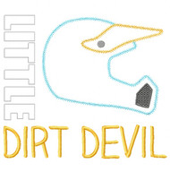 Little Dirt Devil Vintage and Chain Stitch Applique