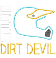 Little Dirt Devil Satin and Zigzag Stitch Applique