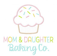 Mom and Daughter Baking Co. Satin and Zigzag Stitch Applique