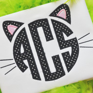 Black Kitty Monogram Alpha