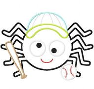 Baseball Spider Satin and Zigzag Stitch Applique