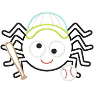 Baseball Spider Satin and Zigzag Stitch Applique