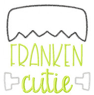 Franken Cutie Vintage and Chain Stitch Applique