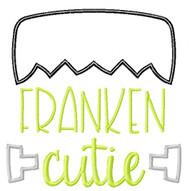 Franken Cutie Satin and Zigzag Stitch Applique