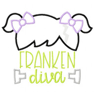 Franken Diva Satin and Zigzag Stitch Applique