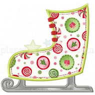 Ice Skate Applique