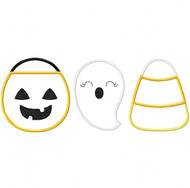 Trick or Treat Set Satin and Zigzag Stitch Applique