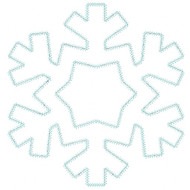 Snowflake 2 Vintage and Chain Stitch Applique