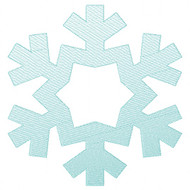 Snowflake 2 Sketch and Zigzag Stitch Applique