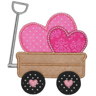 Valentine Wagon Applique