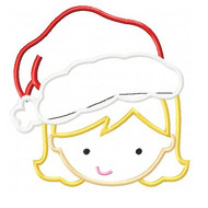 Santa Girl Applique