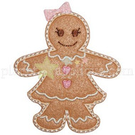 Gingerbread Girl Applique