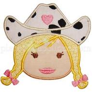 Cowgirl Face Applique