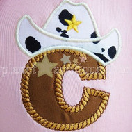 Cowboy Applique Alphabet