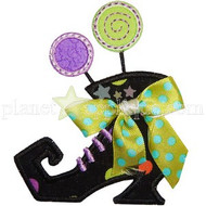 Lollipop Witch Boot Applique