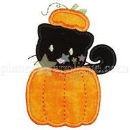 Pumpkin Cat Applique