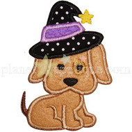 Witchy Puppy Applique