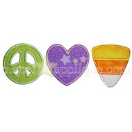 Peace Love Candy Applique