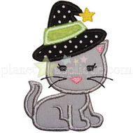 Witchy Kitty Applique