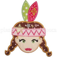 Indian Girl Applique
