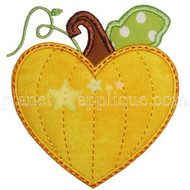 Pumpkin Heart Applique