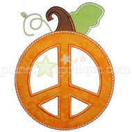Peace Pumpkin Applique