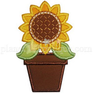 Potted Sunflower Applique