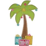 Christmas Palm Tree Applique