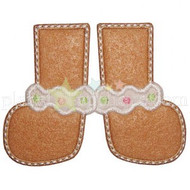 Gingerbread Feet Applique