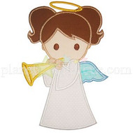 Girl Angel Applique