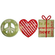 Peace Love Gifts Applique