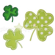 3 Shamrocks Applique
