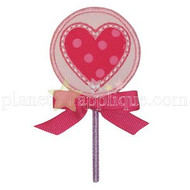 Heart Lollipop Applique