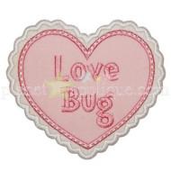 Love Bug Heart Applique