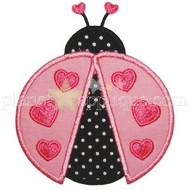 Lady Love bug Applique