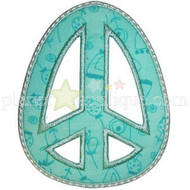 Peace Egg Applique