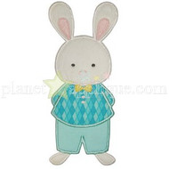 Boy Bunny Applique