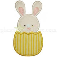 Bunny in Egg Applique