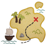 Pirate Map Applique