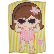 Sunbath Girl Applique