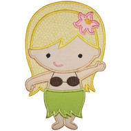 Hula Girl Applique
